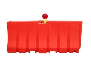 "Plastic Construction Safety Barrier 42"" x 96"" 175lb (Water or Sand)"