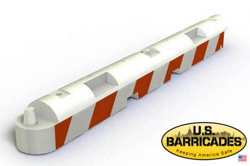Low Profile Airport Barrier - White