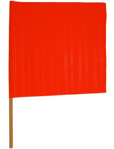Orange Safety Flags 18 x 18 - Box of 20