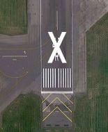 "White Runway ""X"" Closure Marker 1.8m x 38.8m (Sewn ""X"" w/Grommets)"