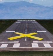 FAA Runway Closure X Marker (Economy 10x60ft Yellow)