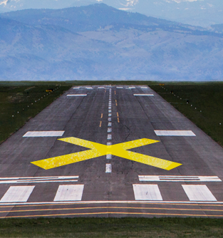 FAA Runway Closure X Marker - 10 x 60' Yellow