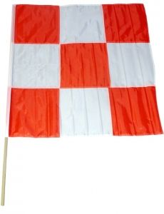 Orange & White 36x36 FAA Checkered Flag