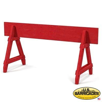 A-Frame Wood Barricade 6ft (Red)