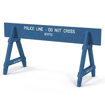 A-Frame Wood Police-Parade Barricade 8ft