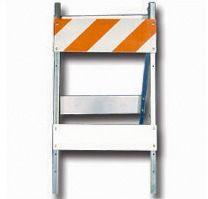 Type I Barricade - Steel and Wood 8x24 (Economy Brand) 3M EG