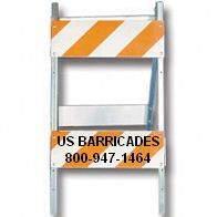 Type II Barricade - Steel and Wood 8x24 (High Intensity HIP)