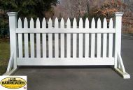 "Wood Road Barrier 40"" x 50"" - Classic Style"