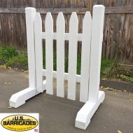 "Wood Road Barrier 42""x30"" - Classic Style"