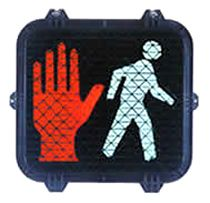 LED Pedestrian Signal 16x18 Side by Side - Full Hand, Full Person