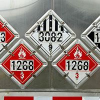 D.O.T. Hazardous Placards