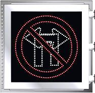 LED Illuminated NO LEFT TURN - NO RIGHT TURN Symbol