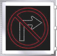 LED Illuminated NO RIGHT TURN R3-1 Sign
