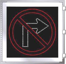LED Illuminated NO RIGHT TURN R3-1 Sign