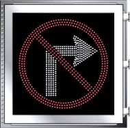 LED Illuminated NO RIGHT TURN R3-1 Multi Line