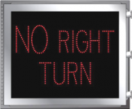 LED Illuminated NO RIGHT TURN (R3-1p)