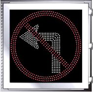 LED Illuminated NO LEFT TURN R3-1 Multi Line