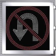LED Illuminated NO U-TURN R3-4 Multi Line
