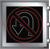 LED Illuminated NO U-TURN R3-4 Sign