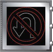 LED Illuminated NO U-TURN R3-4 Sign