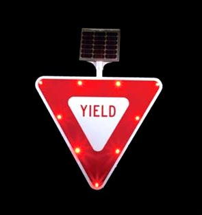 Solar powered YIELD Sign (R1-2)