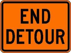 END DETOUR (M4-8a) Construction Sign