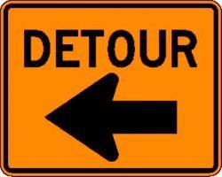 DETOUR (M4-9L) Construction Sign