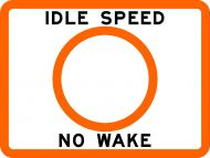 IDLE SPEED NO WAKE - USCG Regulatory Sign