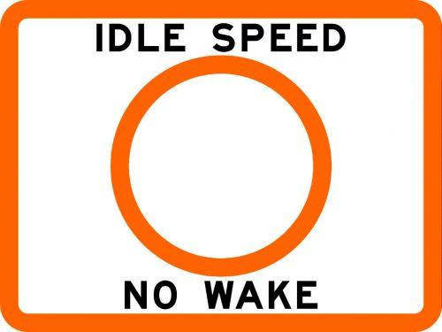 IDLE SPEED NO WAKE - USCG Regulatory Sign