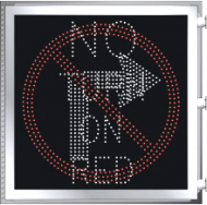 LED Illuminated NO TURN ON RED - NO TURN SYMBOL