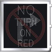 LED Illuminated NO TURN ON RED - NO TURN SYMBOL