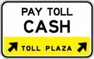 Toll Plaza Lane Control Sign