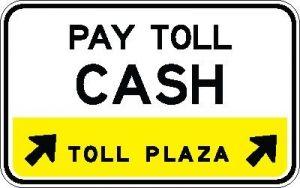 Toll Plaza Lane Control Sign