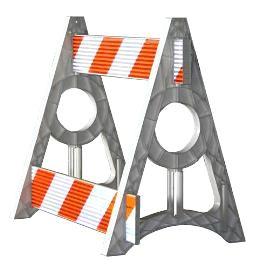 A-Frame Parade Barricade (Diamond Grade)