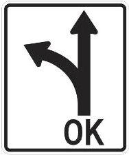 Left Arrow Turn/Forward