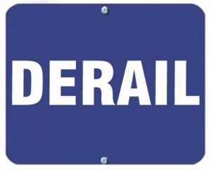 DERAIL - Blue Flag OSHA Sign
