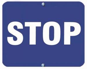 STOP - Blue Flag OSHA Sign