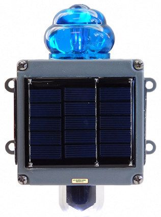 Blue Flag Railroad Light (Solar)