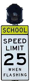School Zone Flashing Beacon System (AC)