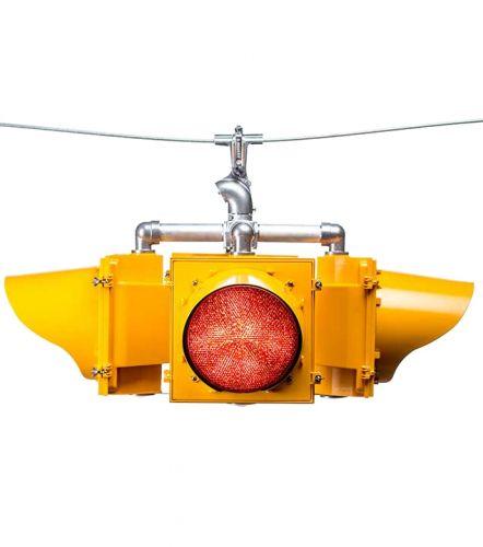 4-Way Warning Beacon System - Solar Power (VDC)
