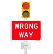 WRONG WAY Warning Beacons - Vehicle Detection Activation System - (AC) 60-135 VAC