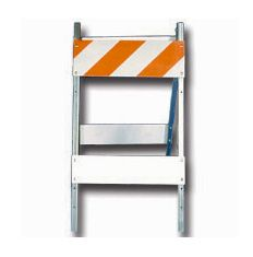 Type I Barricade - Steel and Wood 12x36 (High Intensity)