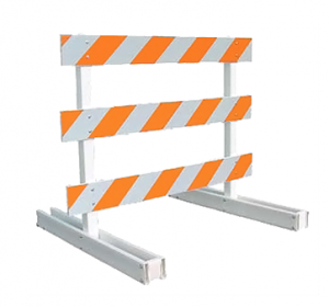 Type III Barricade (10ft Plastic Breakaway)