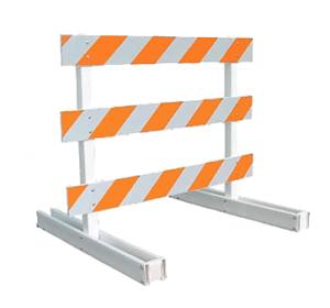 Type III Barricade (6ft Plastic Breakaway)