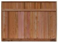 6 x 8 ft. Red Cedar Solid Top Fence Panel