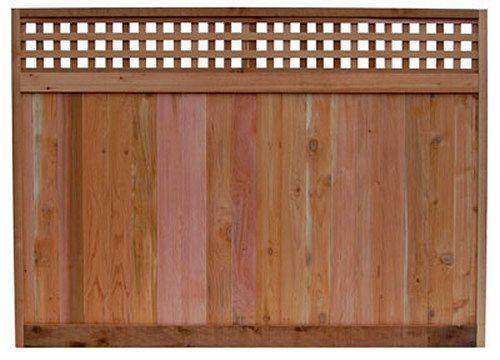 Red Cedar Fence Panel With Checker Lattice U S