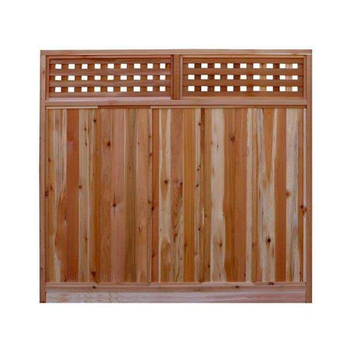 6 x 6 ft. Red Cedar Fence Panel with Standard Checker Lattice Top