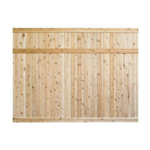 6 ft. H x 8 ft. White Cedar Privacy Fence Panel