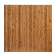 6 ft x 6 ft Pressure-Treated Cedar-Tone Wood Fence Panel