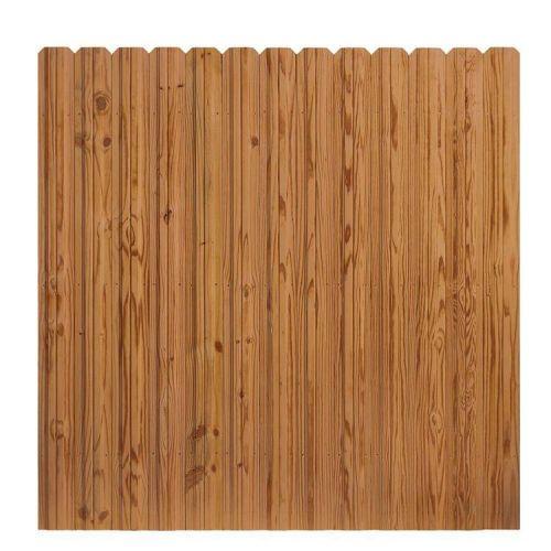 6 ft x 6 ft Pressure-Treated Cedar-Tone Wood Fence Panel